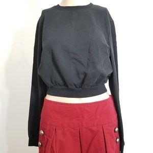 Asos Black Cropped Sweatshirt Jumper 6